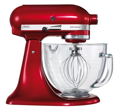 KitchenAid Artisan Stand Mixer - Red with glass bowl