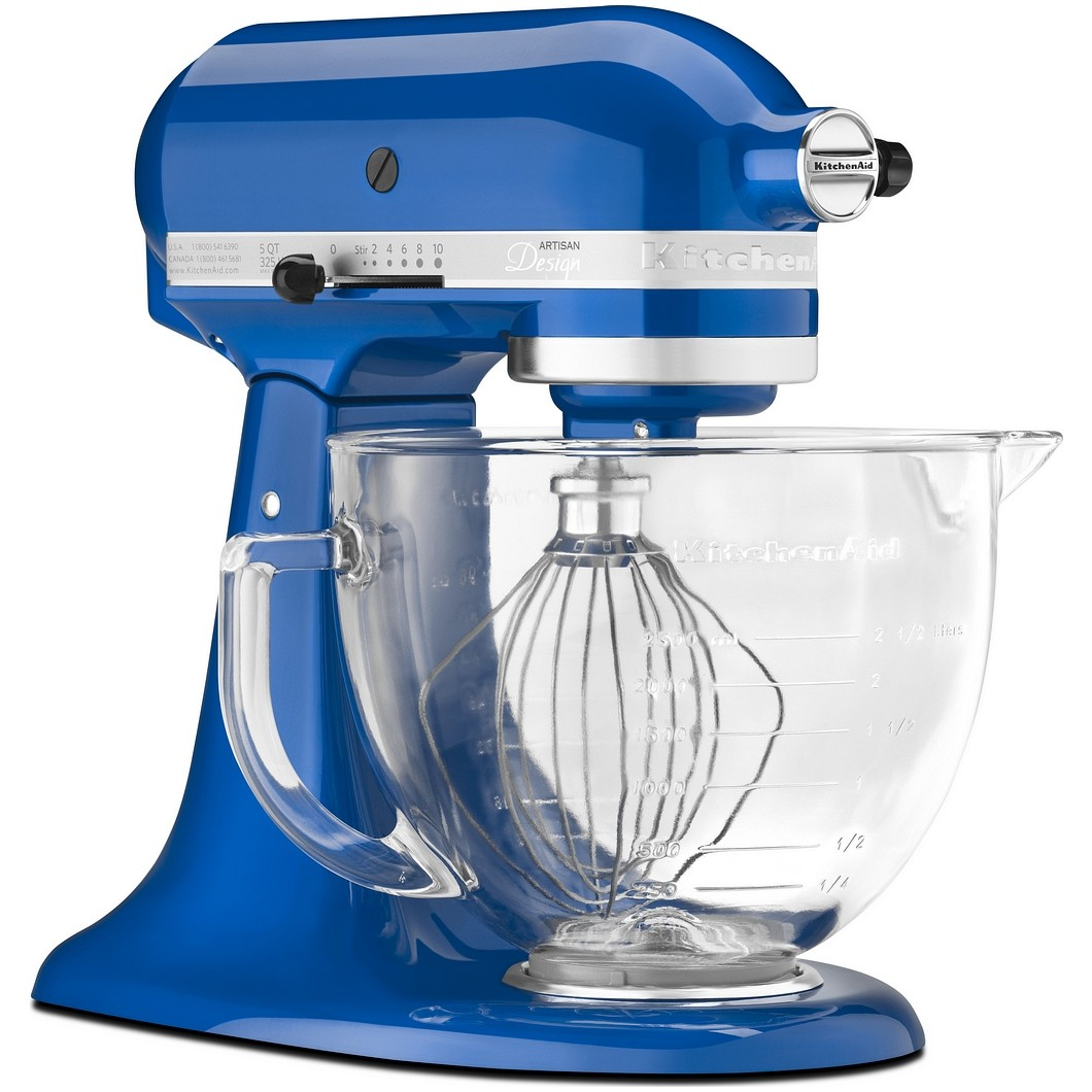 KitchenAid Artisan Stand Mixer - Electric Blue with Glass