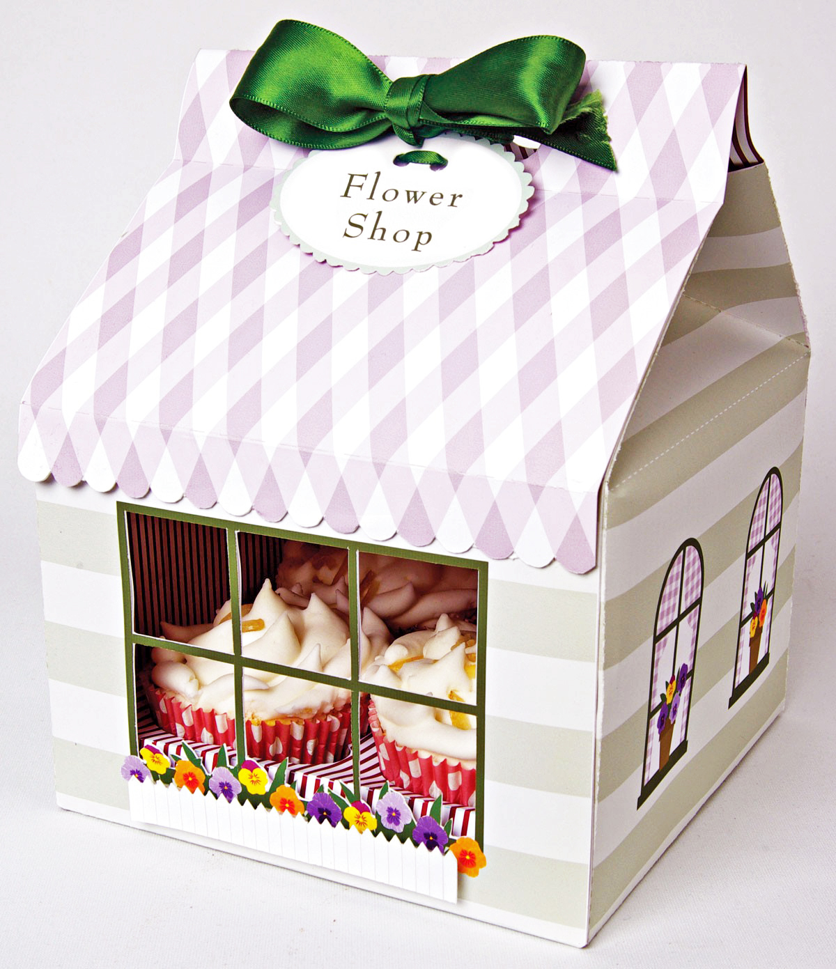MM Caixa Grande para Cupcakes Flower Shop
