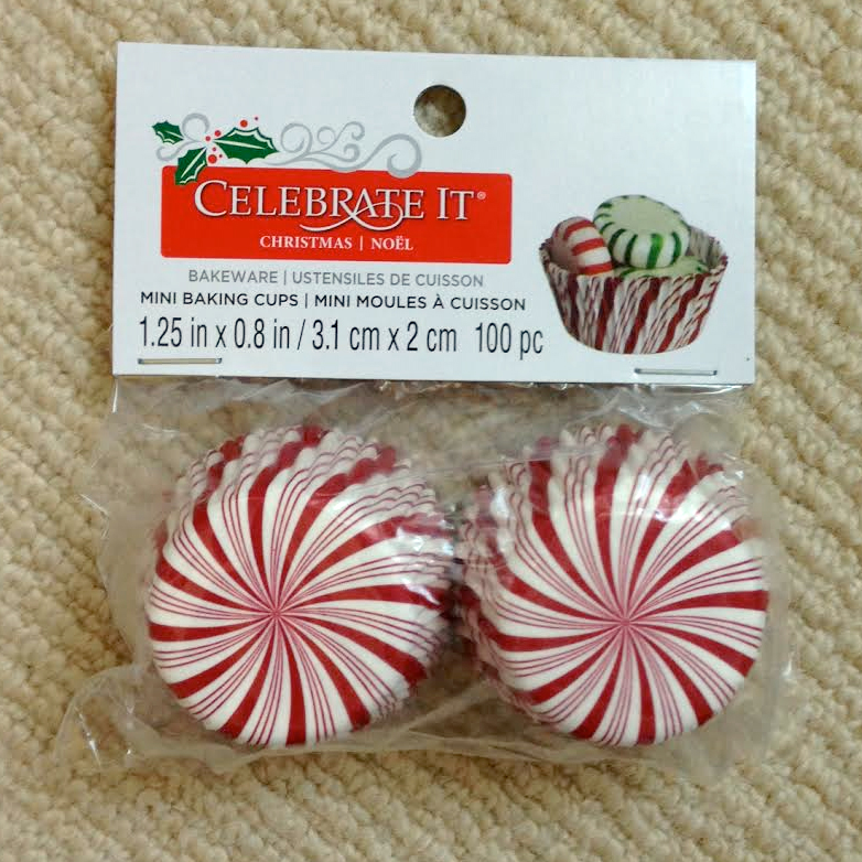 Formas de Papel Peppermint Candy para Mini Cupcakes